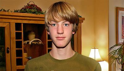 ... high school senior Lucas Faber, 18, seems like any ordinary gay teen.