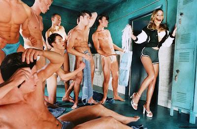 Locker room orgy