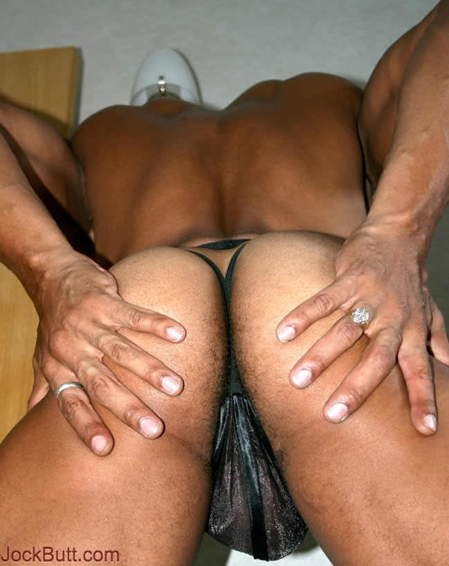Muscular black men ass