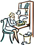 Writer from clipart