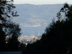 Ría de Pontevedra desde el Lago Castiñeiras.