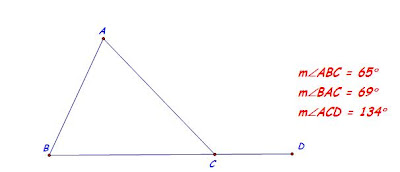 Exterior angle property of a triangle figures speak - The exterior angle of a triangle is equal to ...