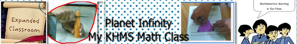 Planet Infinity...My K.H.M.S. Math  Class
