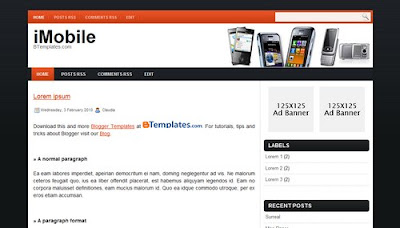 New Template for Mobile Blog:iMobile