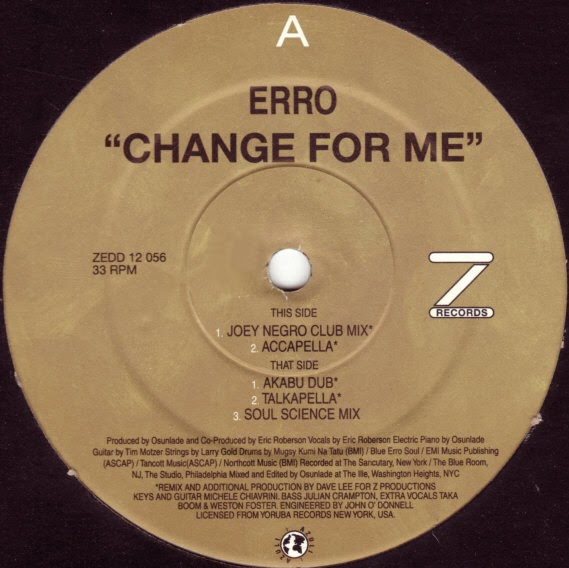 Classic House Music Erro Change For Me Z Records 2002