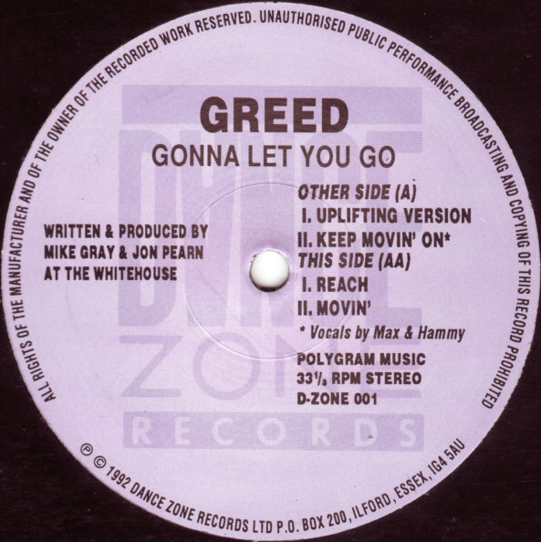 Classic house music greed gonna let you go d zone for 1992 house music