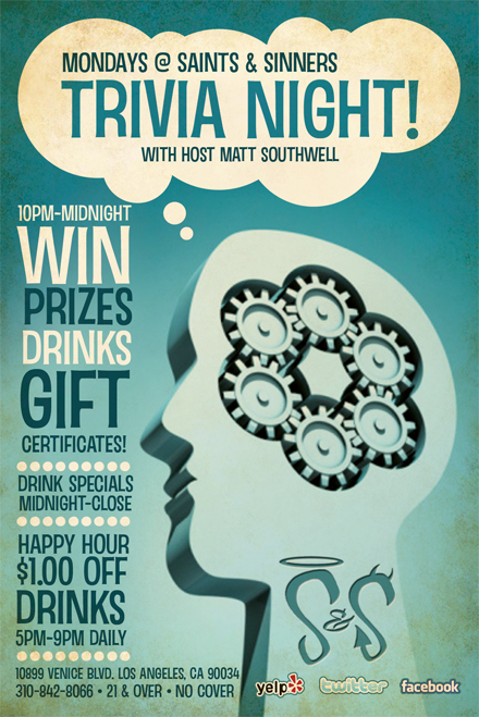 1933 Group Events – Quiz Night Poster Template Free