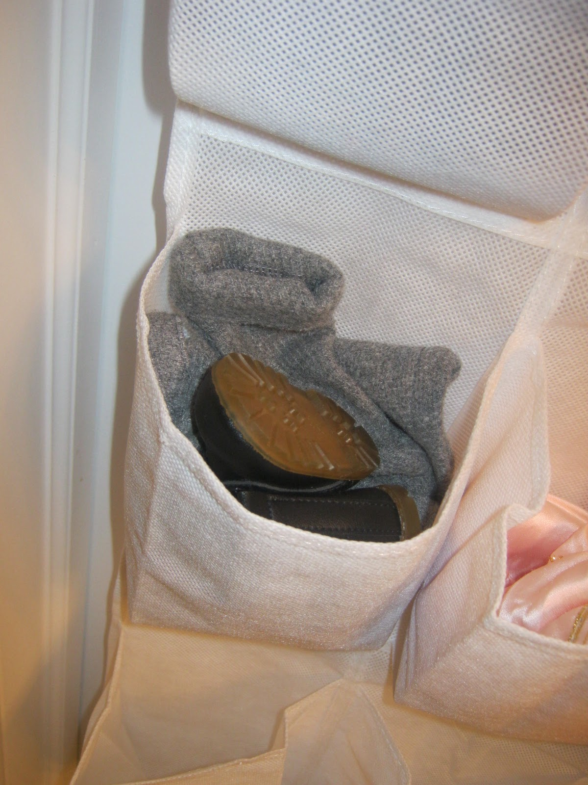 an over-the-shoe organizer