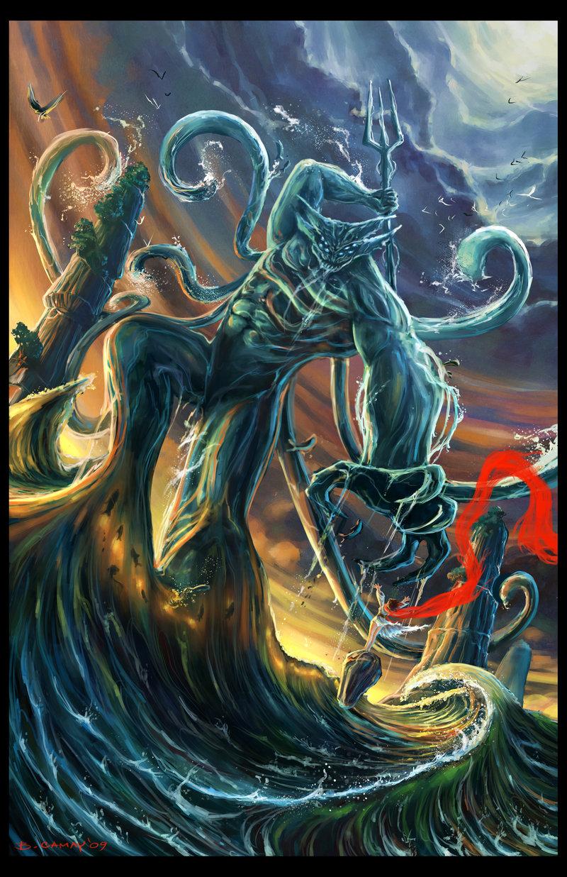 hand made water demon