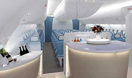 Super esong blog super fancy airplane interior for Airplane exterior design