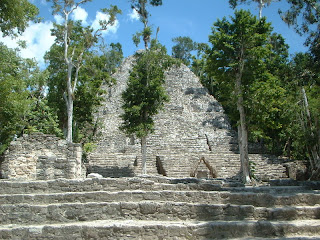 A pyramid at the mayan ruins of coba