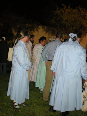also mingled with a gaggle of mormon wives