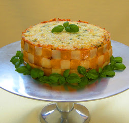 A won ton lasagna cake: click on picture to view
