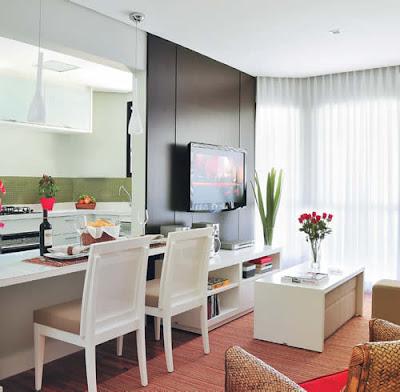 Ver viver e sonhar salas compactas for Sala de estar funcional