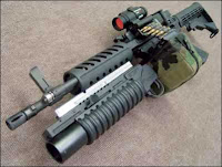 machine gun grenade launcher