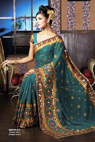 Indian Wedding Attire on Indian Bridal Saree