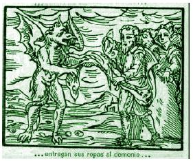 4. Los brujos entregan sus ropas al demonio