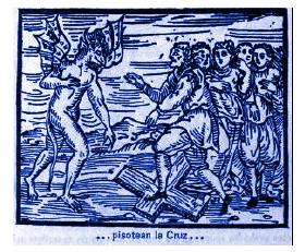 2. Los brujos pisotean la Cruz