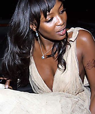 Naomi Campbell Tattoos