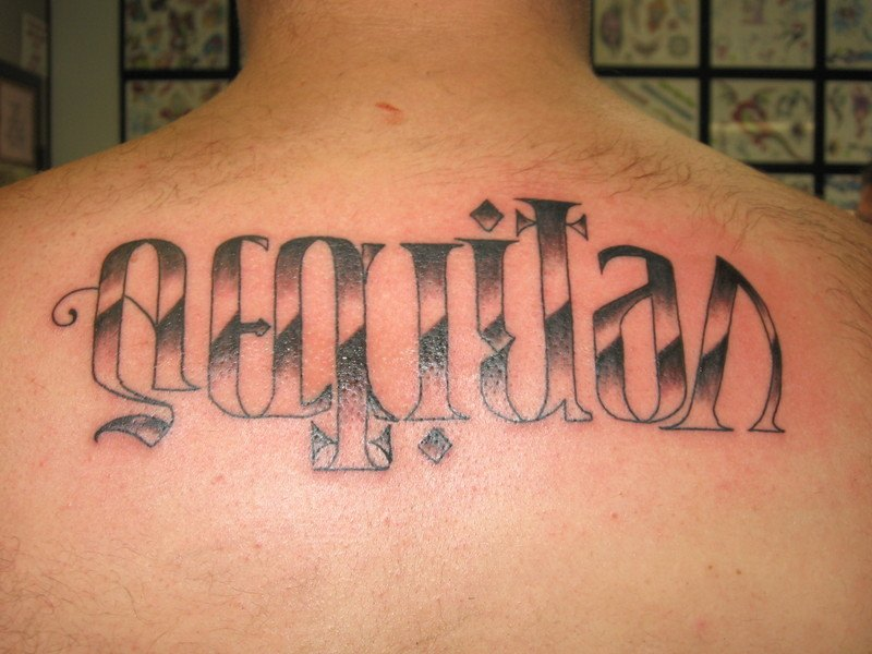 Ambigram Tattoo of my last name on my forearm. Ambigram Tattoo Designs