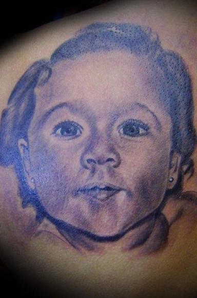 Adorable kid tattoo design.