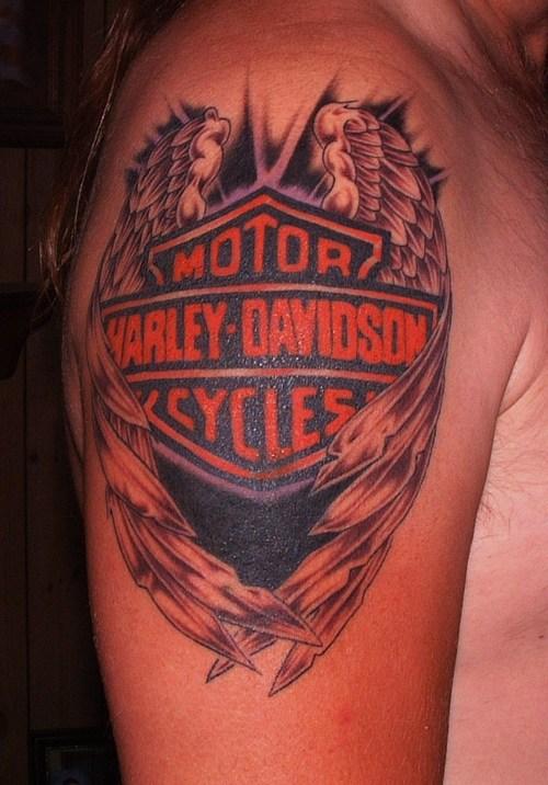 Harley tattoo tattoo design bild for Free harley davidson tattoo designs