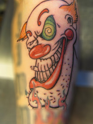tattoos of clowns. Black Bedroom Furniture Sets. Home Design Ideas