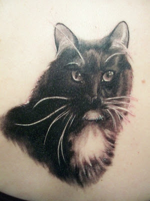 cats tattoo. black cat tattoo picture funny