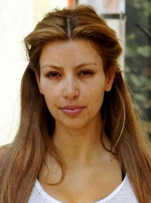 kim with out makeup