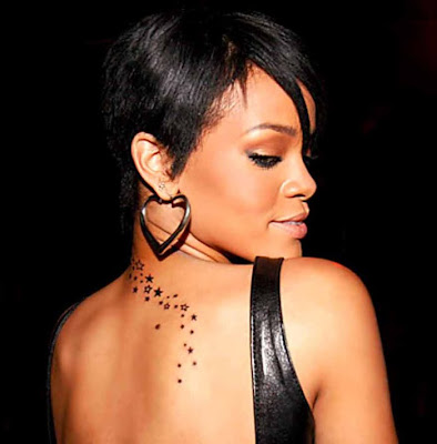 rihannas tattoo. Rihanna Tattoos