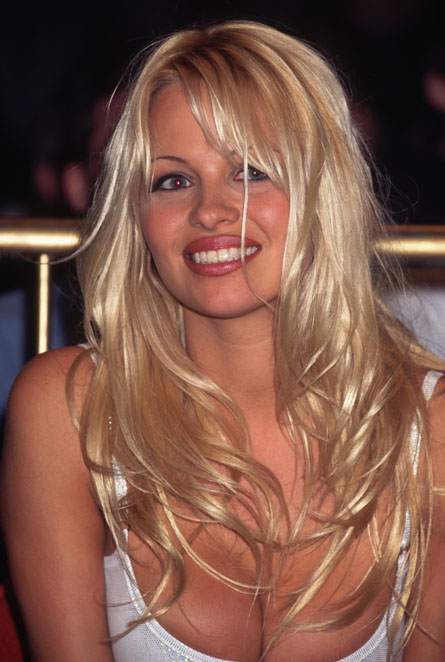Pamela Anderson Platinum Blonde Hair