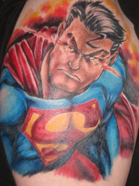 trend tattoos superman tattoos. Black Bedroom Furniture Sets. Home Design Ideas