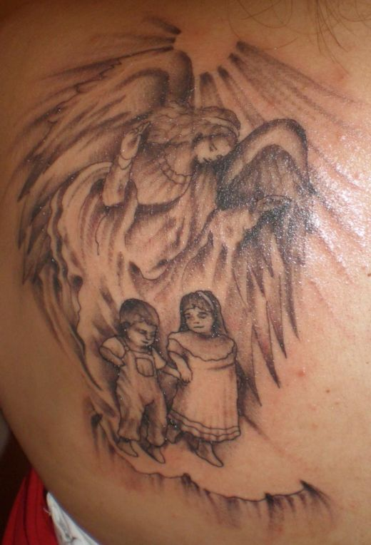 Fallen Angel's tattoo design by Delilah Pictures Typically Sweet Guardian