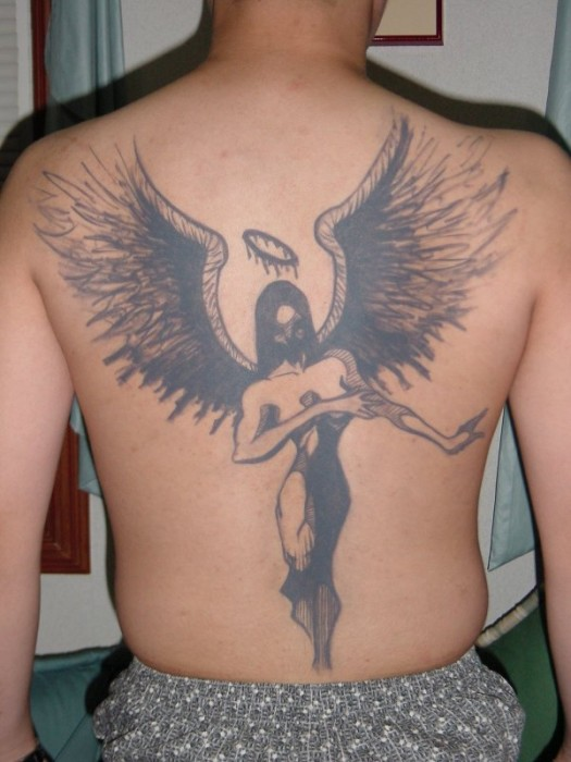 Male Angel Tattoos. star tattoo 1 star tattoos for