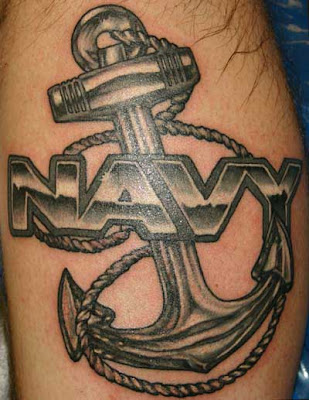 Great bold navy anchor tattoo.