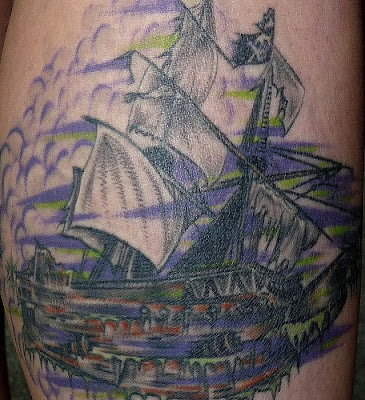 ship tattoo. Ghost Ship Tattoos
