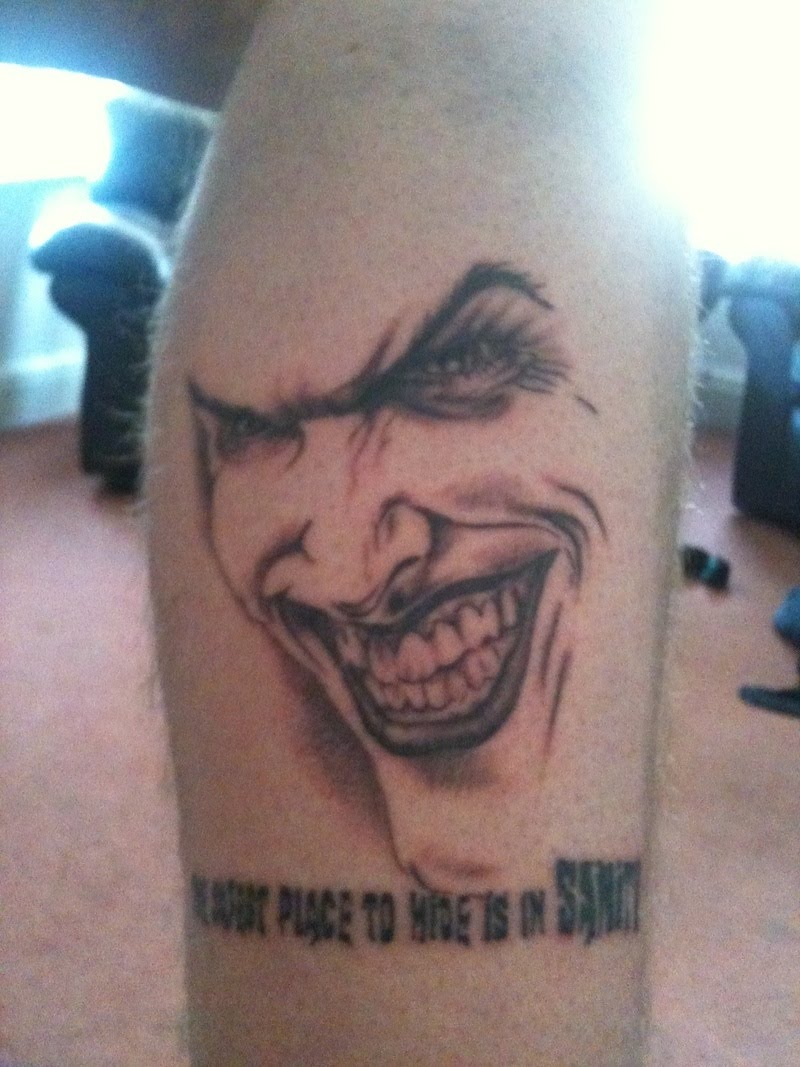 Comic Book Joker Tattoo