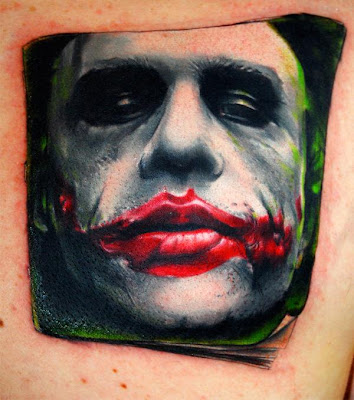 Jack Nicholson joker tattoo. Posted by design cool at 1:43 PM