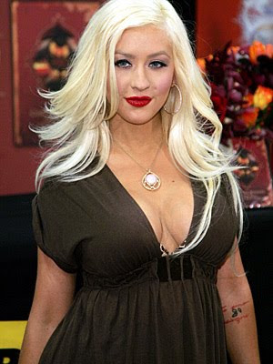 platinum blonde hair with black. Christina Aguilera Blonde Hair