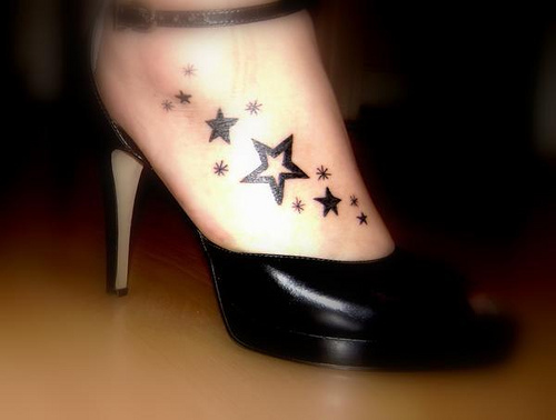 Foot Star Tattoos Picture 1