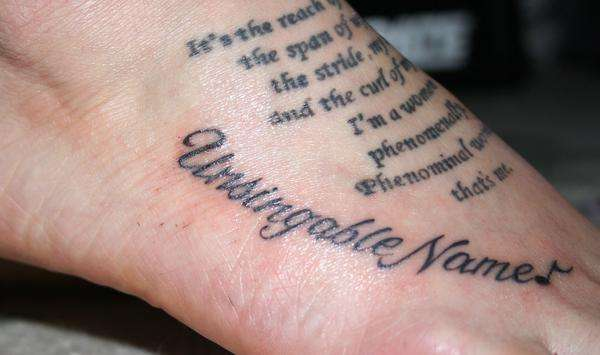 tattoos with meaningful words Beautiful saying tattoo idea on foot