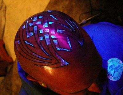 Checkout some of these cool before and after black light tattoos under