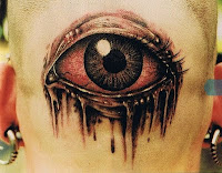 Freaky single bloody eye art