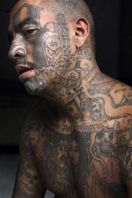 MS-13 Tattoos : MS 13 gang