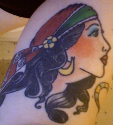 gypsy tattoo. Gypsy Head Tattoos