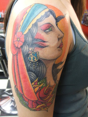 Gypsy Head Tattoos