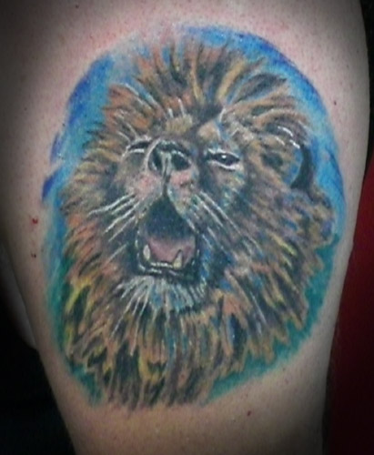 lion tattoo on forearm. Lion Head Tattoos