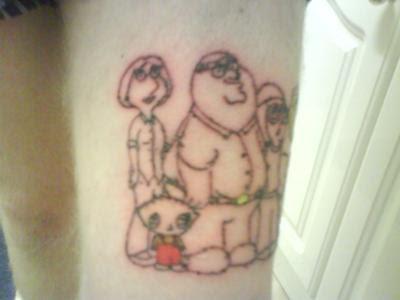 guy tattoos. Family Guy Tattoos