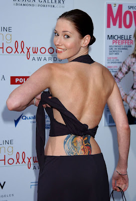 Chyler Leigh Lower Back Tattoo