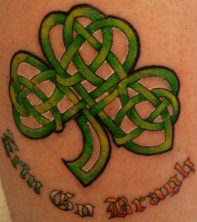 celtic shamrock tattoos. Shamrock And Clover Tattoos